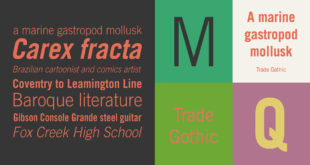 Trade Gothic Font