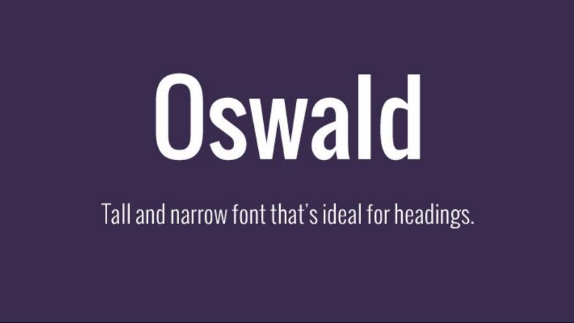 Oswald Font Family Free