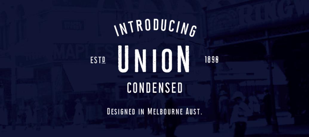Union Condensed Font