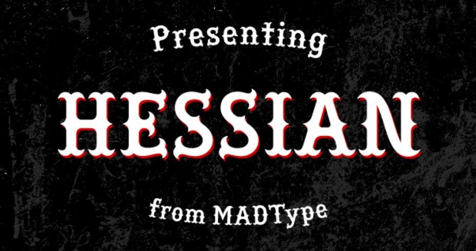 Hessian Font Free Download