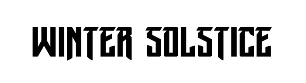 Winter Solstice Font