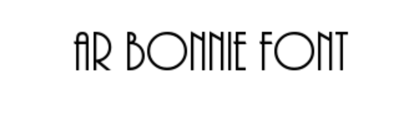 ar bonnie bold font free download