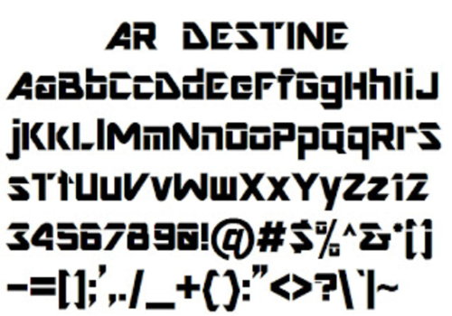ar destine font for photoshop cs6 free download