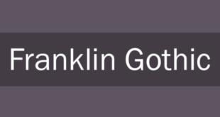 Franklin Gothic Heavy Regular Font 310x165 - Franklin Gothic Font Free Download