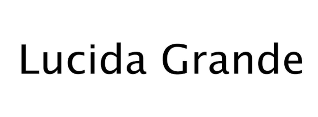Lucida Grande Bold Font Free Download