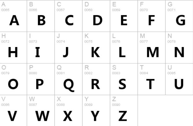 Microsoft YaHei Bold Font
