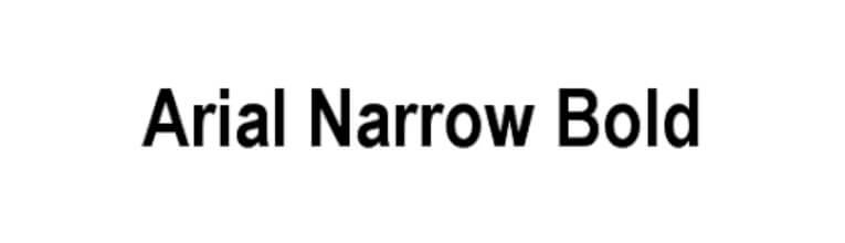 Arial Narrow Bold Font Free Download