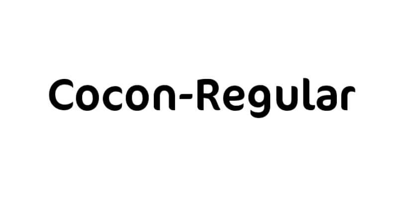 Cocon Regular Font Free Download