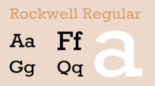 Identifont rockwell.