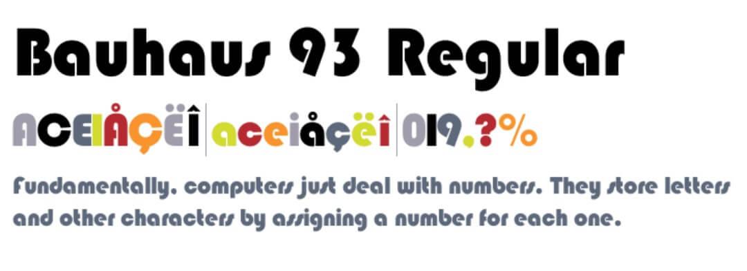 Bauhaus 93 Regular Font Free Download