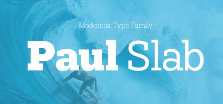 Paul Slab Font