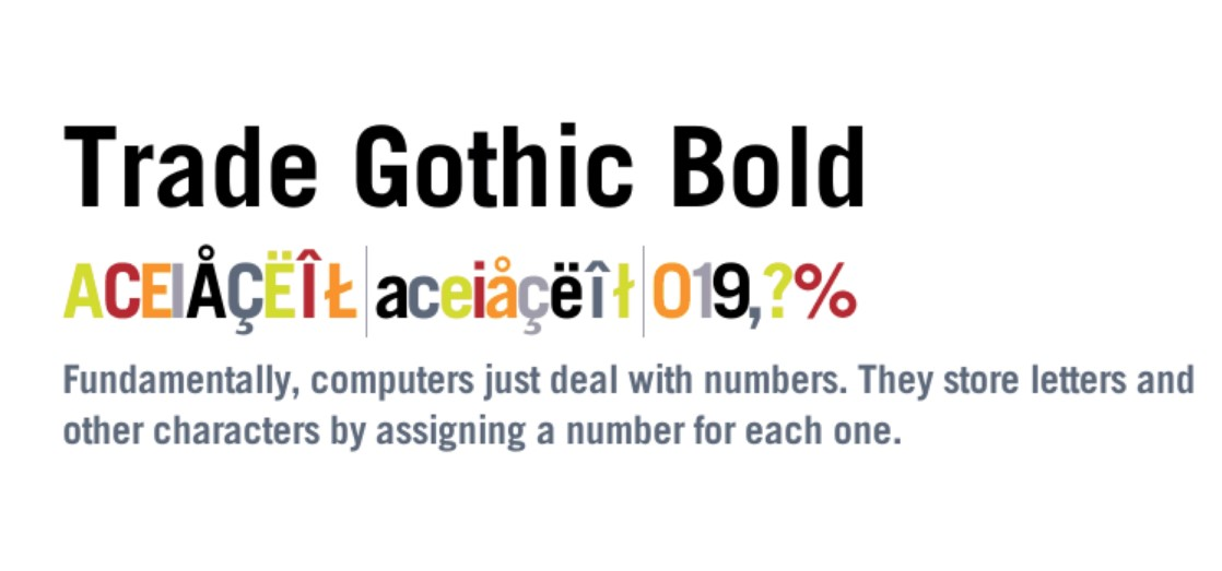 Trade Gothic Bold Font Free Download