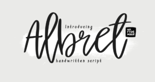 Albret Handwritten Font 310x165 - Albret Handwritten Font Free Download