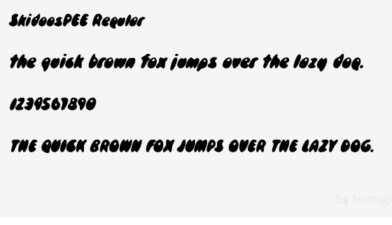 Skidoospee Regular Font - Skidoospee Regular Font Free Download