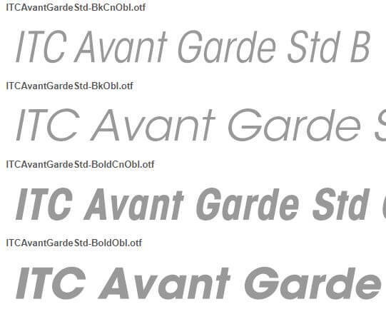font avant garde gothic free download