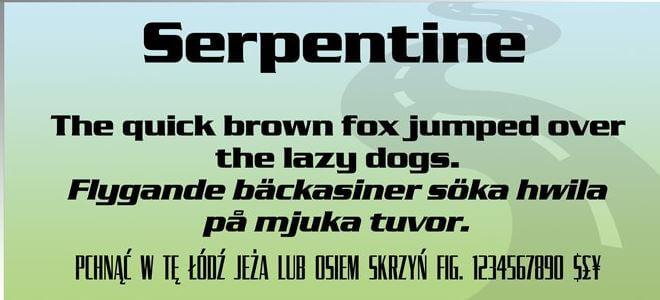 Serpentine Font - Serpentine Font Free Download