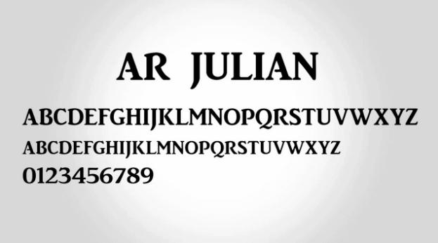 ar-julian-font