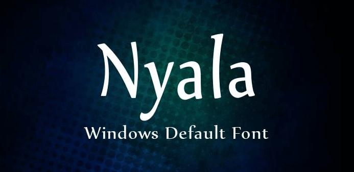 Nyala Font Free Download