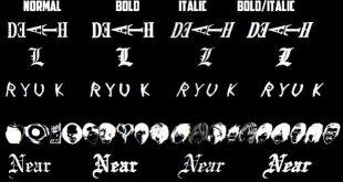 Death Note Font