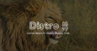 Distro Font