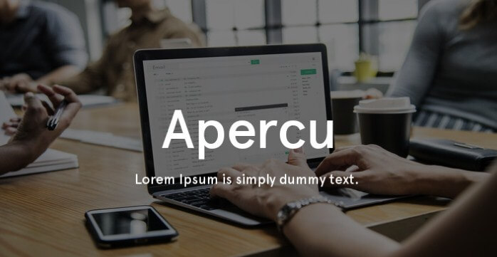 Apercu Font