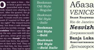 Bookman Font