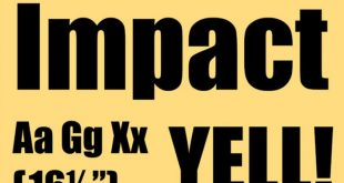 Impact font free 310x165 - Impact Font Free Download