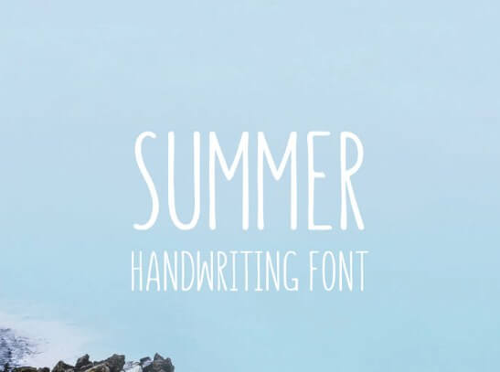 Summer Hearts Brush Font