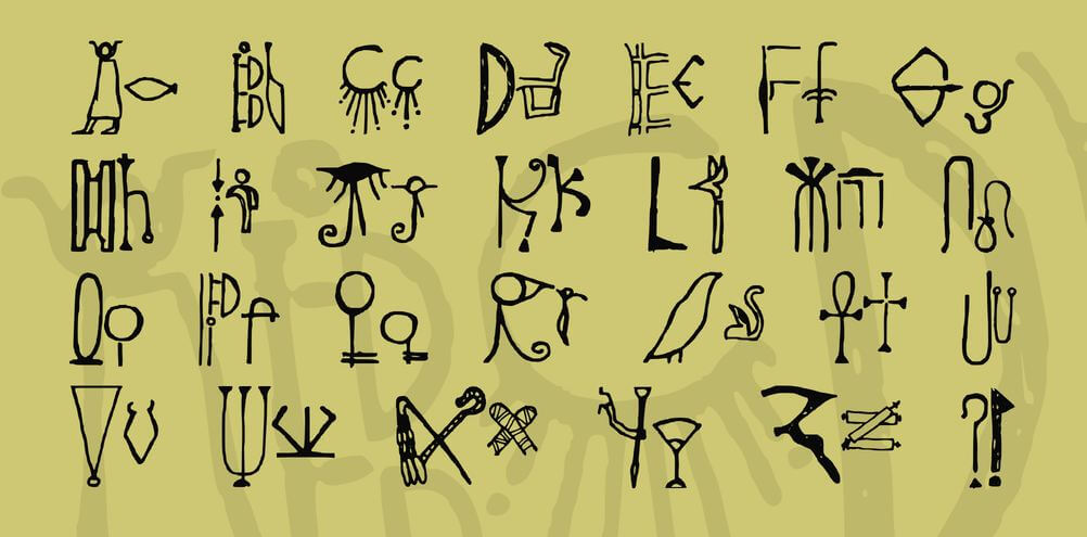 egyptian font - Egyptian Font Free Download
