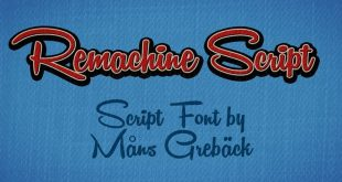 Remachine script font 310x165 - Remachine Script Font Free Download