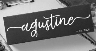 agustine font 310x165 - Agustine Script Font Free Downlaod