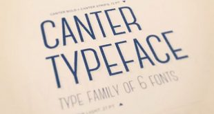canter typeface 310x165 - Canter Font Free Download