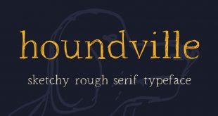houndville font 310x165 - Houndville Sketchy Font Free Download