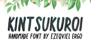 kint sukoroi font 310x165 - Kintsukuroi Font Free Download
