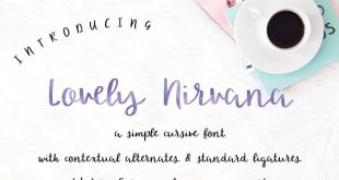 lovely nirvana font 310x165 - Lovely Nirvana Script Font Free Download