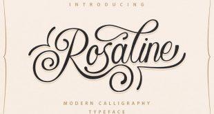 rosaline font 310x165 - Rosaline Script Font Free Download