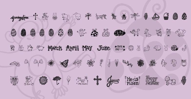 Janda Flower Doodles Font Free Download