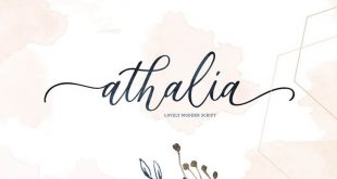 athalia font 310x165 - Athalia Script Font Free Download