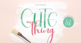 cute thing dou font 310x165 - Cute Thing Font Duo Free Download