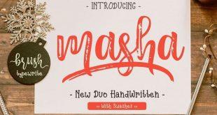 masha font 310x165 - Masha Script Font Free Download