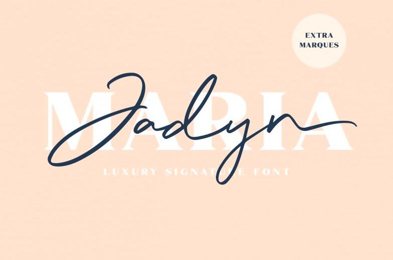 jadyn - Jadyn Maria Signature Font Free Download