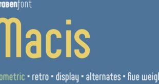 macis font 310x165 - Macis Font Free Download