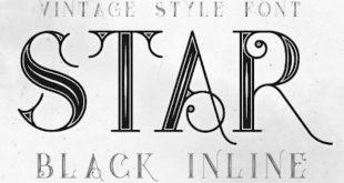 Star Black Inline Font